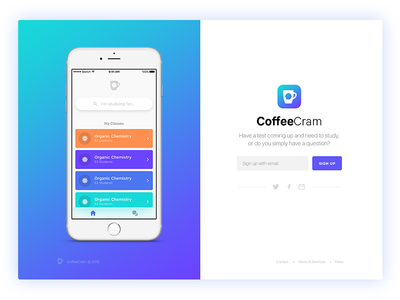 Coffeecram Landing Page