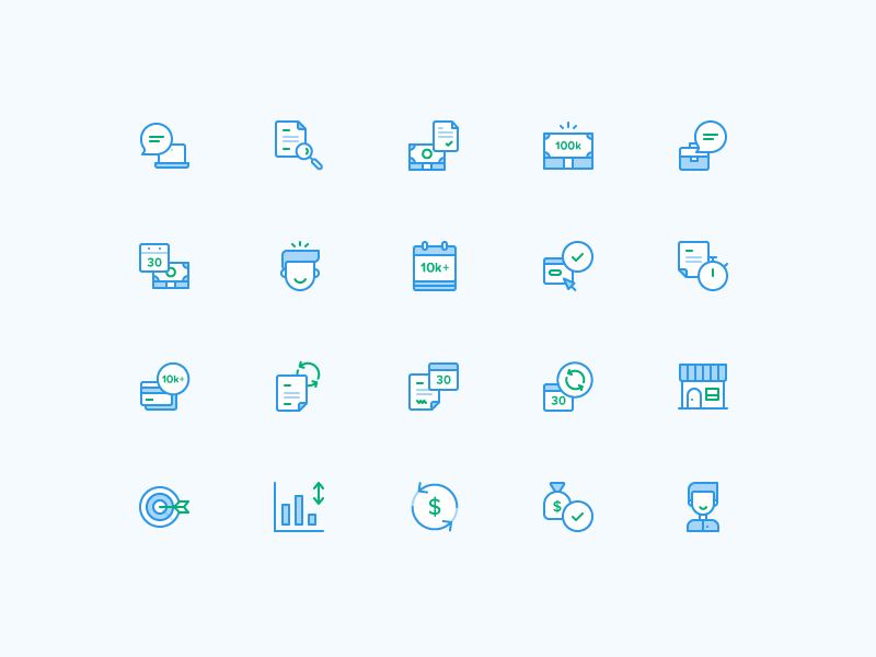 Sprout Finance Icons icon set fintech ui ux business ui design payments crypto wallet graph credit card icons finance