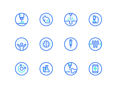 Medical Icons two tone icons simple icons glyph iconography icon set medical icons energy brain atoms lazer heart set