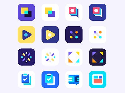 App Icons app designer app iphone chat stream connect video communication tasks ios mark app icon
