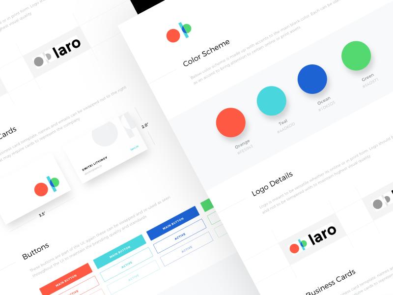 Laro Branding logo guide mark style guide brand guide identity branding