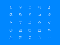 All icons blue