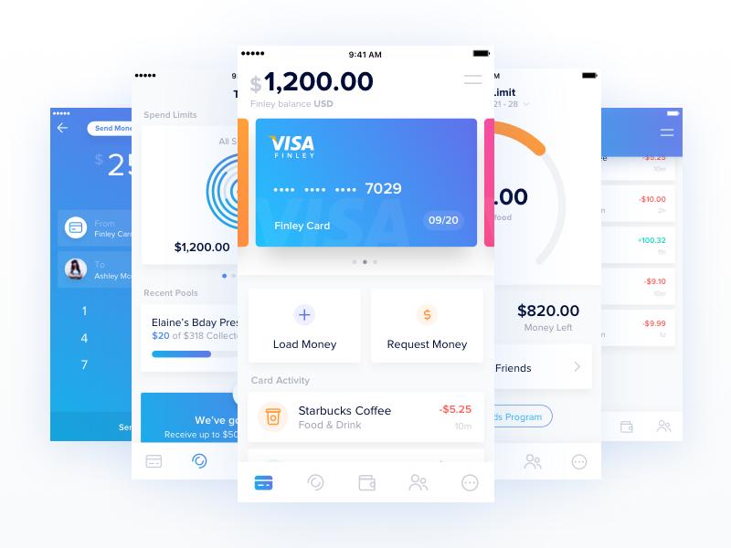 Finley App Redesign fintech ui design crypto wallet ui ux finance budget withdraw send payment visa ios app finley