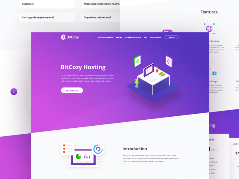 Isometric Landing Page isometric illustration digital illustration home page web design hosting stats payments illustration isometric landing page