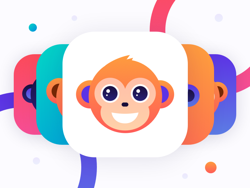 Monkey.cool app icon white 2
