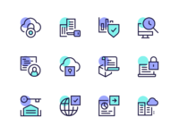 Blockchain icons  2x