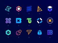 Blockchain glyphs d