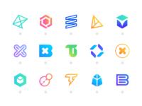 Blockchain glyphs w