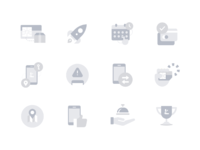 Lunar icons dribbble bw