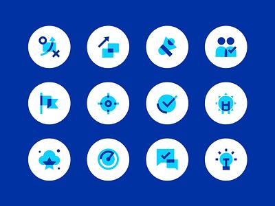 Recruitment Icons sponshorship management career leaders coaching leadership icon set icons recruitment