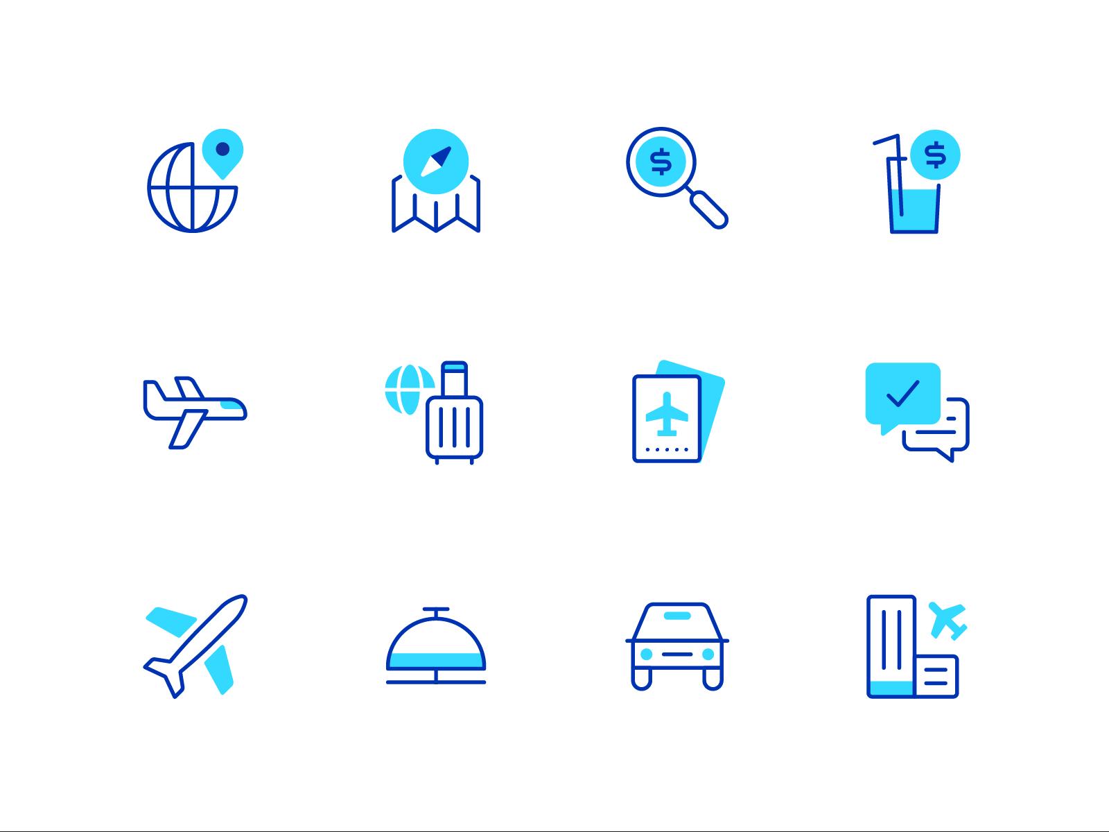 Travel icons 1  2x