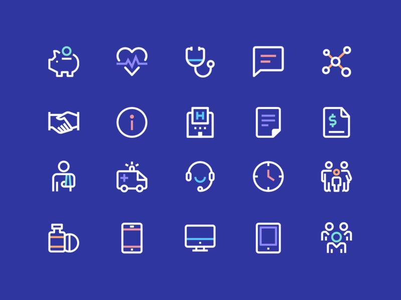 Health Icons #2 medicine chat savings ambulance ui ux icon designer iconography icon set health