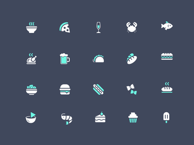 Point of Sale Icons icons app point of sale food categories ux ui icon designer iconography icon set