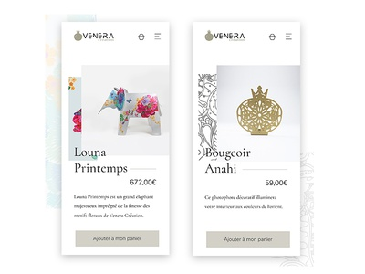 Product Page redesign product page mobile page responsive daily ui daily ui challenge luxury furniture made in france minimalistic clean elegant flourish ornaments