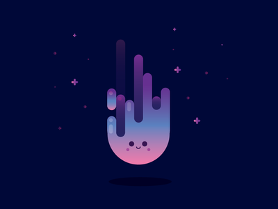 Cute Asteroid Illustration