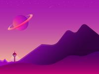 Planet Horizon Illustration