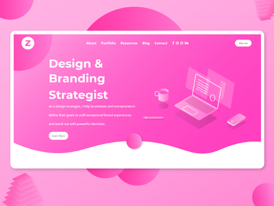 Design strategist Landing Page