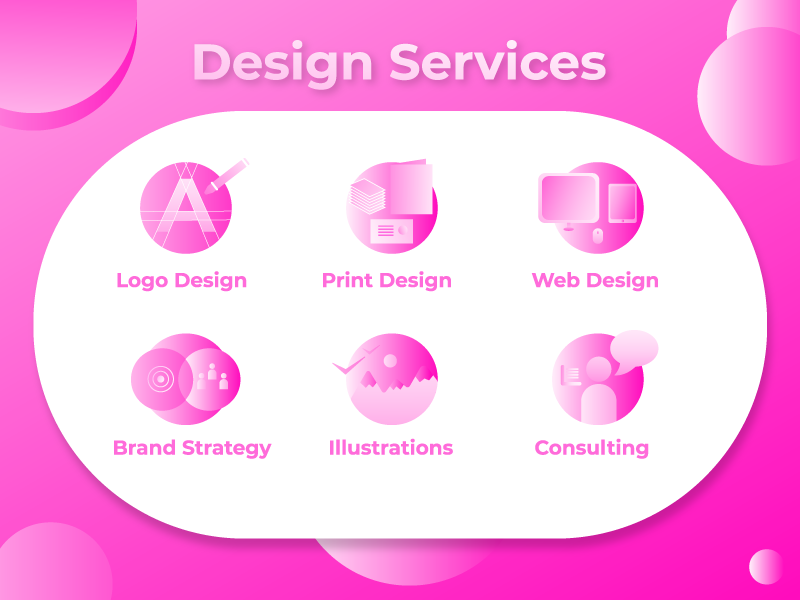 Icon Set for Design Services brand pink svg icon svg design illustraion graphic design icon