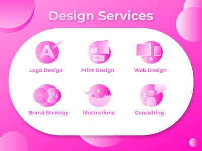 Icon Set for Design Services