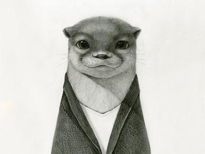 Mr. Otter NO.2 pencil sketch picture book illustration