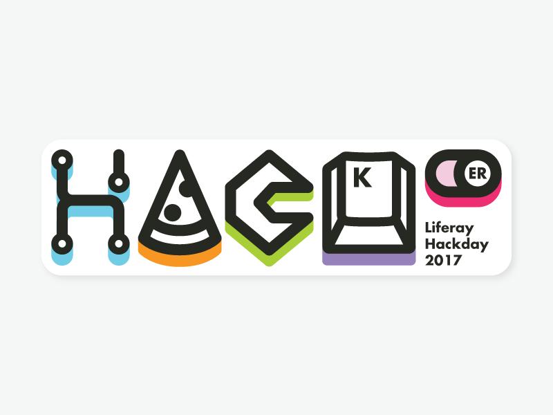 Liferay Hackday keycap pizza hacker icons sticker hackday liferay