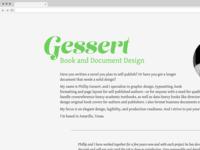 Gessert Book and Document Design