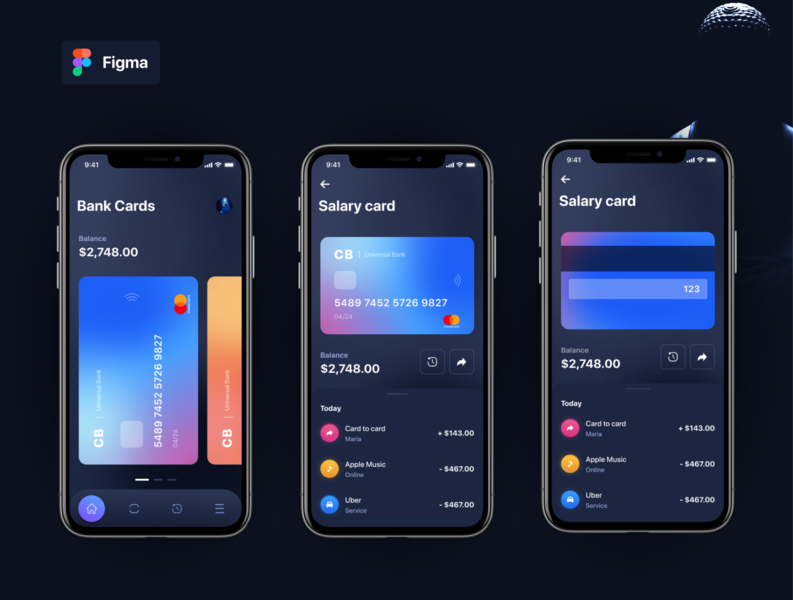 Wamp Figma FREE Template finance wallet banking template mockup figma download typography app animation ux ui design