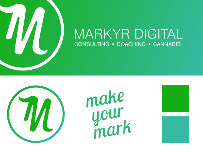 Markyr Identity illustration typography minimal design branding