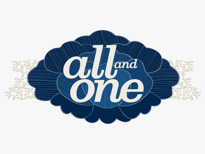 All and One logo vector flat illustration branding logo