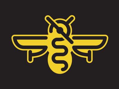 BeePlane sky air airplane wasp branding aircraft fly wings plane bee logodesign logo