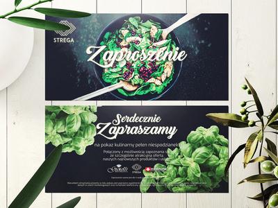 Zaproszenie Strega invitation design adipe illustration bussines card