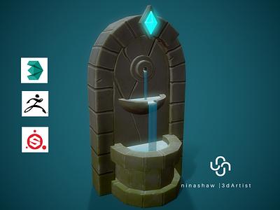 Stylized Fountain