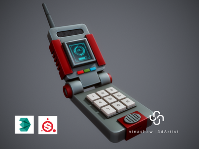 Stylized Cell Phone