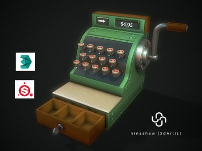 Stylized Cash Register