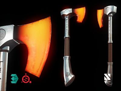 Axe weapon tool medieval axe model 3d