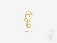 Seahorse Logo Icon