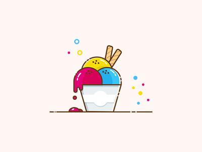 Ice cream cup flat design