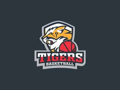 Tiger Basketball Sport Mascot branding illustrator icon editable vector illustration design logo design logo animal mascot design sports logo sports app team logo basketball card tiger mascot logo design mascot character mascot mascot logo