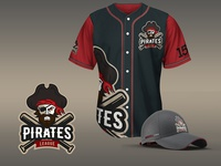 Pirates League Mascot Logo
