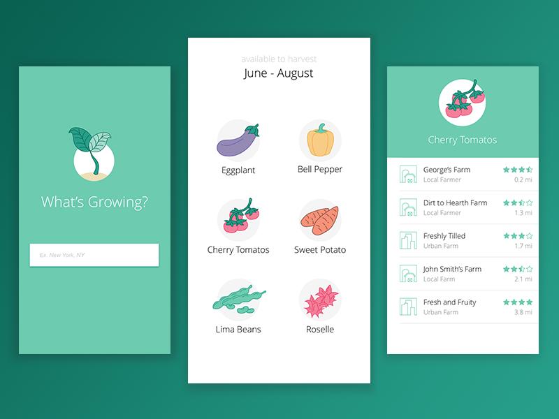 Farm To Table App By Kelly Ceriani Dribbble - Farm to table app