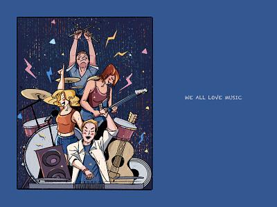WE ALL LOVE MUSIC~~ illustration
