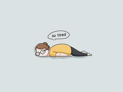 so tired! illustration