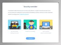 Security reminder