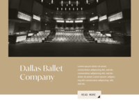 Texans For the Arts - Web Concept