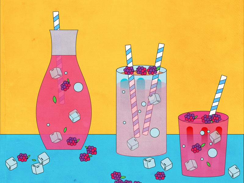Cold drinks in summer 插图 summer