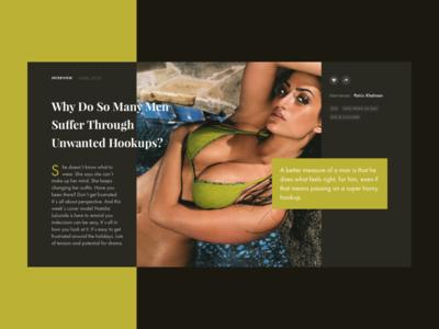 Playboy redesign concept #2 magazine slide photo news uxui uiux ux ui interface fashion design book