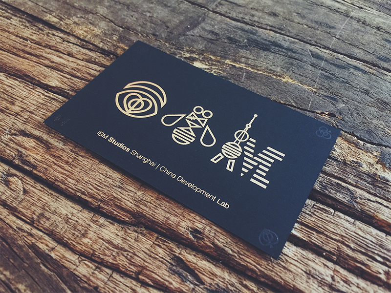 Ibm studios shanghai business card by miko jin dribbble ibm sh bc s reheart Images
