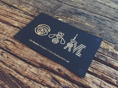 Ibm studios shanghai business card by miko jin dribbble ibm studios shanghai business card reheart Images