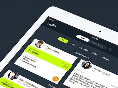 Hale Provider Dashboard iPad