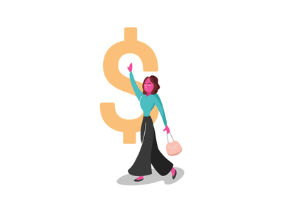 Closing The Gender Pay Gap salary people lady woman character illustration